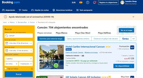 hoteles booking